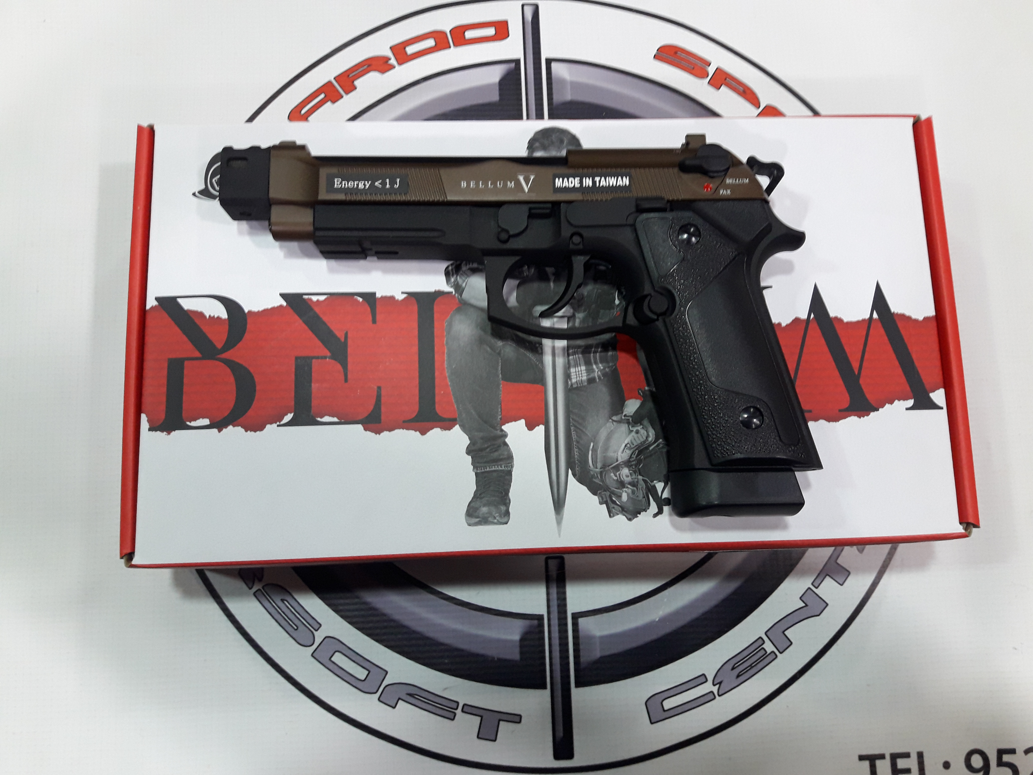 PISTOLA CO2 BLOW BACK BELLUM CUSTOM V BRONZE SECUTOR
