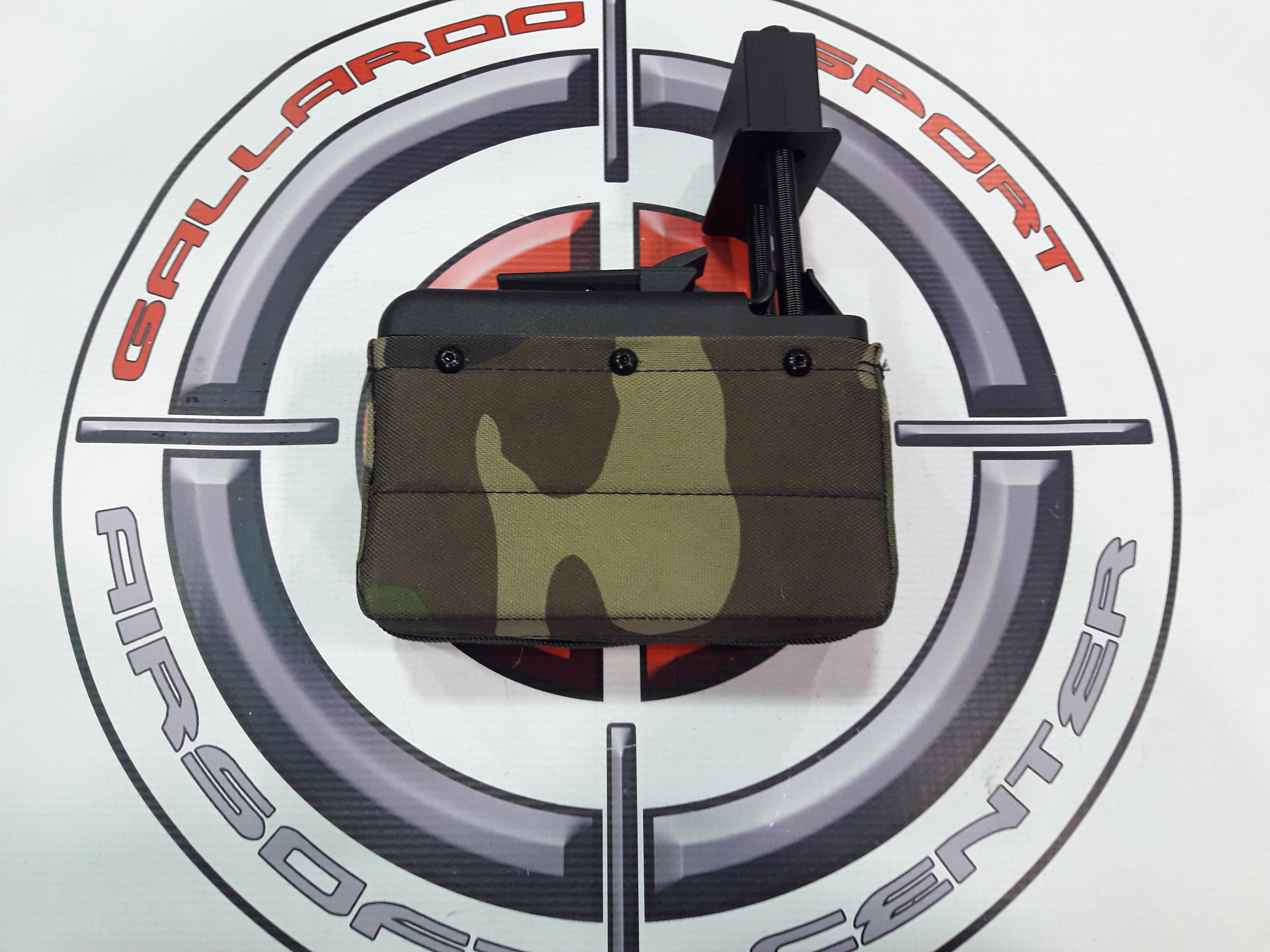 CARGADOR DRUM M249 MINI A&K 1500 RDS WOODLAND