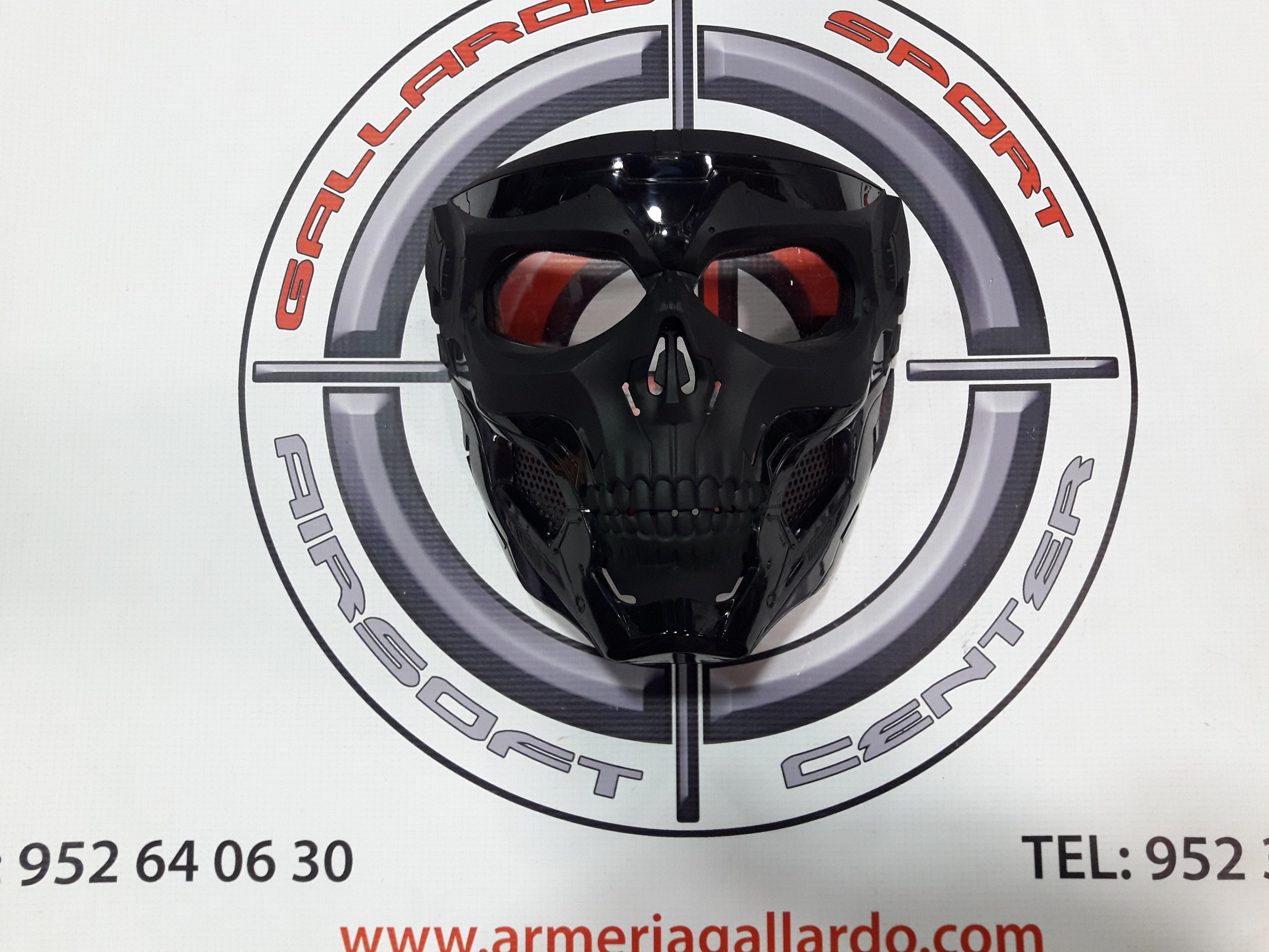 MASCARA COMPLETA SKULL NEGRA DELTA TACTICS