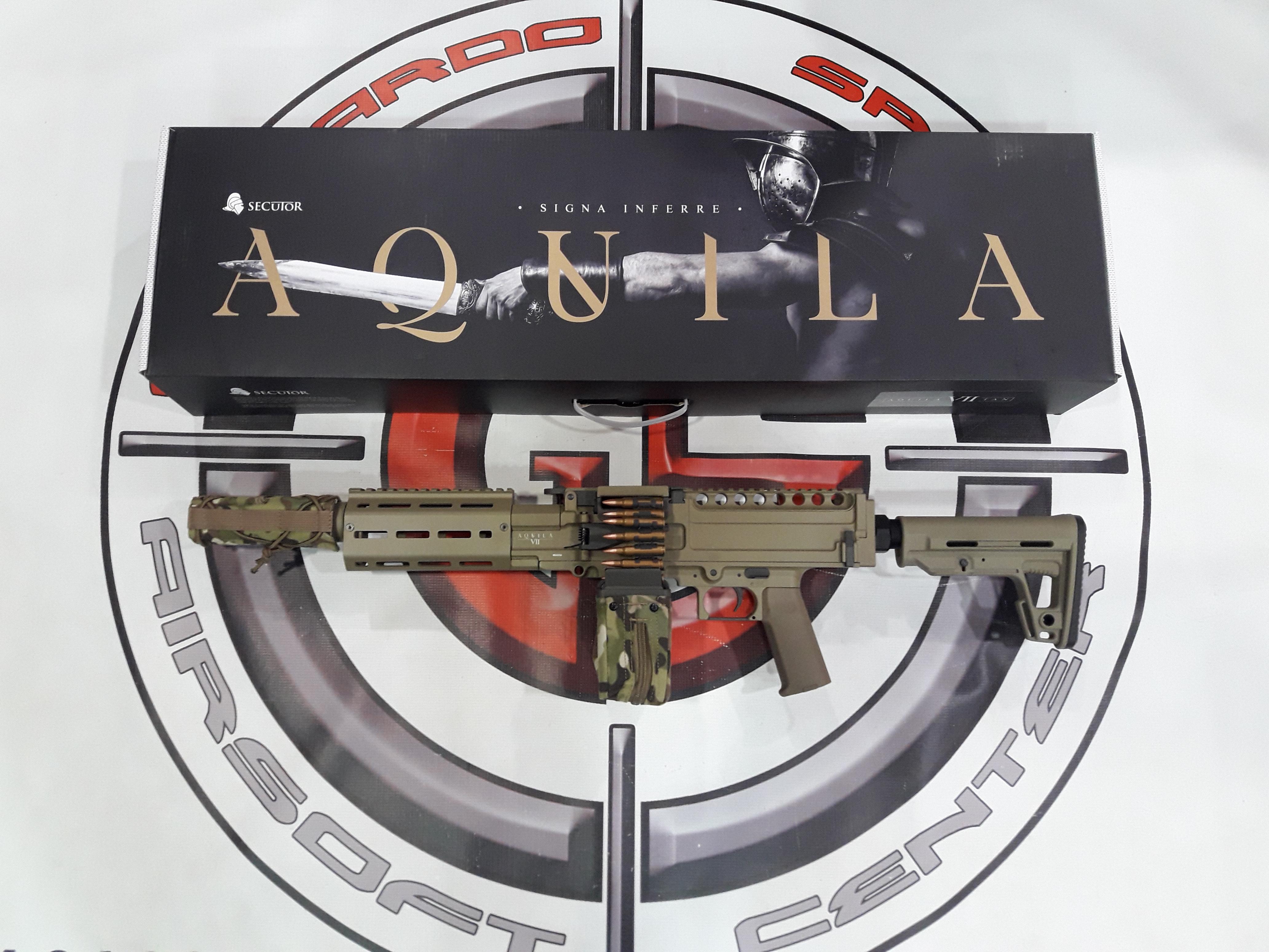 LMG AQUILA VII TAN SECUTOR ARMS
